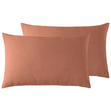 Clay French Linen Standard Pillowcases (Set of 2)