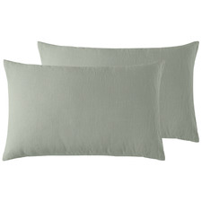 Sage French Linen Standard Pillowcases (Set of 2)