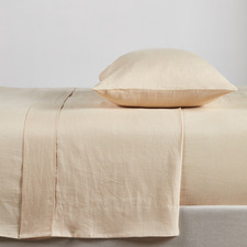 Almond French Linen Sheet Set