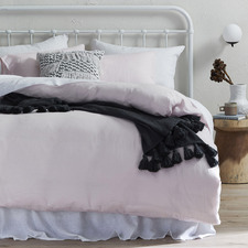 Blush French Linen Quilt Cover Set