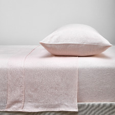 Blush French Linen Sheet Set