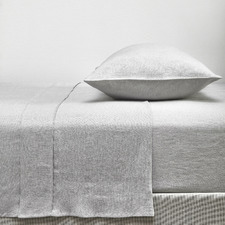 Grey French Linen Sheet Set