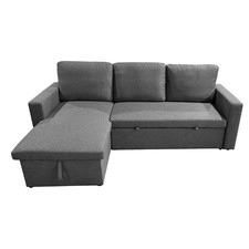 Grey Miera 3 Seater Storage Sofa Bed