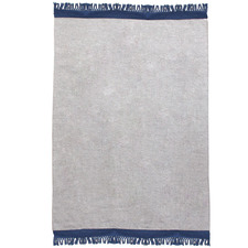 Navy & Grey Mercer Hand-Woven Wool Rug