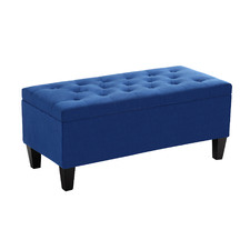 Sheffield Velvet Storage Ottoman