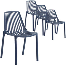Indigo Slouch UV-Stabilised Outdoor Dining Chairs (Set of 4)