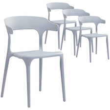 Grey Hug UV-Stabilised Outdoor Dining Chairs (Set of 4)