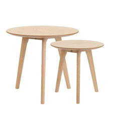 2 Piece Lund Wooden Nesting Table Set