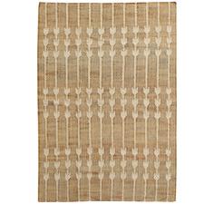 Natural & Ivory Dart Hand-Woven Jute & Wool Rug