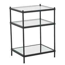 Black Francesca Glass Side Table