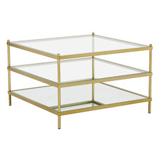 Square Francesca Glass Coffee Table