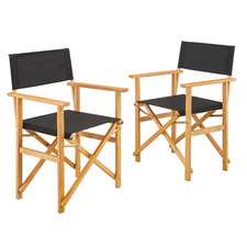 Belize Wooden Outdoor Director's Chairs (Set of 2)