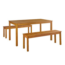 4 Seater Pula Wooden Outdoor Dining Set