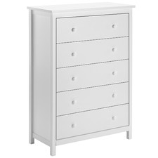 White Noosa 5 Drawer Chest