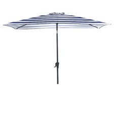 2.7 x 1.8m Brighton Striped Rectangular Market Umbrella