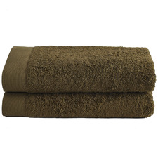 Olive Spa 600GSM Bamboo & Turkish Cotton Bath Sheets (Set of 2)