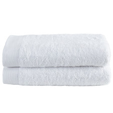 White Spa 600GSM Turkish Cotton Bath Sheets (Set of 2)