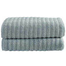Seafoam Ribbed 600GSM Turkish Cotton Bath Sheets (Set of 2)