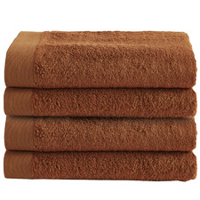 Cinnamon Spa 600GSM Bamboo & Turkish Cotton Bath Towels (Set of 4)