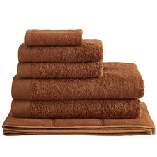 6 Piece Cinnamon Spa 600GSM Bamboo & Turkish Cotton Towel Set