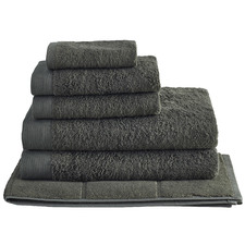 6 Piece Charcoal Spa 600GSM Bamboo & Turkish Cotton Towel Set
