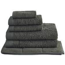 6 Piece Charcoal Spa 650GSM Bamboo & Turkish Cotton Towel Set
