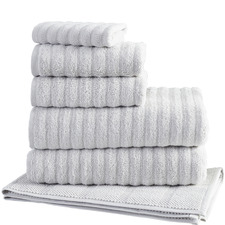 Light Grey Ribbed 600GSM Turkish Cotton Towel Set