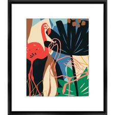 Funky Flamingo I Framed Print