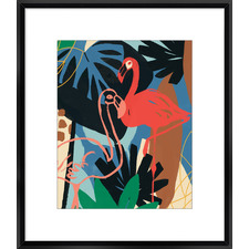 Funky Flamingo II Framed Print