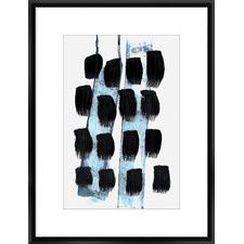 Black White Blue Framed Print