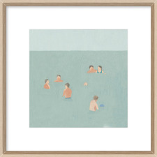 The Swimmers II Framed Print