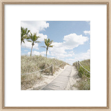 A Stroll In The Dunes Framed Print