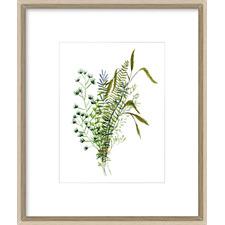 Green Bouquet II Framed Print