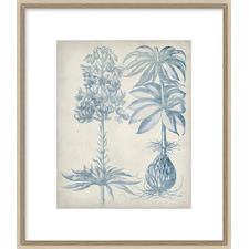 Blue Fresco Floral I Framed Print