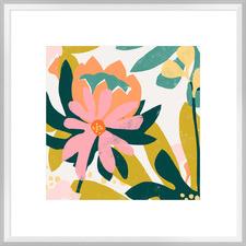 Cut Paper Garden IV Framed Print