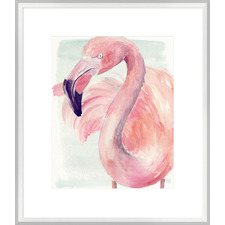 Pastel Flamingo I Framed Print