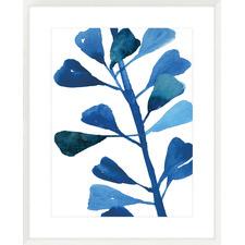 Sapphire Stems V Framed Printed Wall Art