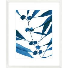 Sapphire Stems VII Framed Printed Wall Art