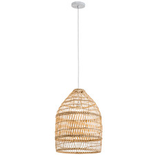 Natural Amalfi Rattan 50cm Tall Pendant Light