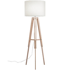 Whitewash Benson Wooden Tripod Floor Lamp