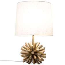35cm Driftwood Ball Table Lamp