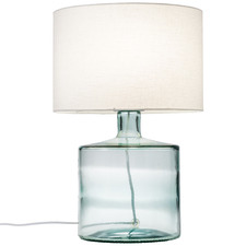 Blue Hamilton Glass Table Lamp