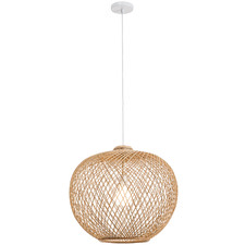 Natural Luna Rattan 46cm Tall Pendant Light