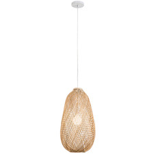 Natural Luna Rattan 56cm Tall Pendant Light