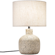 42cm White Maya Ceramic Table Lamp