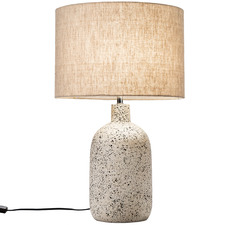 57cm White Maya Ceramic Table Lamp