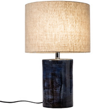 Blue Reactive Terracotta Table Lamp