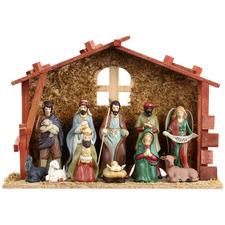 12 Piece Porcelain Nativity Set