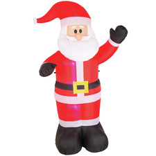 240cm LED Inflatable Waving Santa