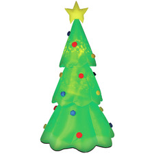 270cm LED Colour-Changing Inflatable Christmas Tree